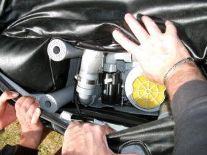 Unidad de motor de spa inflable