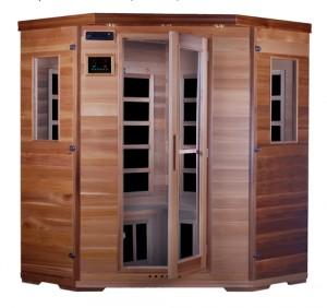 Sauna de infrarrojos de carbono en madera de cedro rojo